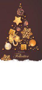 Novoroční přání - Strom z ozdob