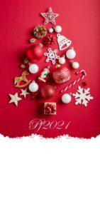 Novoroční přání - Stromek z ozdob