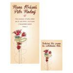 Malované svatební oznámení s květy