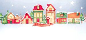 Novoroční přání - Barevné domy
