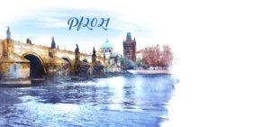 Novoroční přání - Výhled na Karlův most