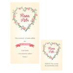 Svatební oznámení s růžemi a lístečky propletené dokola