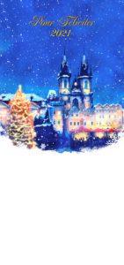 Novoroční přání - Kreslená Praha