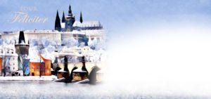 Novoroční přání - Výhled na Prahu