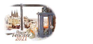 Novoroční přání - Výhled z okna Prahu
