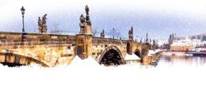 Novoroční přání - Noční Karlův most