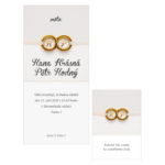 Svatební oznámení s prstýnky nekonečno