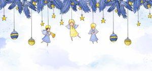 Novoroční přání - Andělové