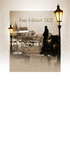 Novoroční přání - Noční Praha