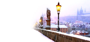 Novoroční přání - Výhled z Karlova mostu