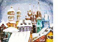 Novoroční přání - Zimní město