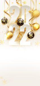 Novoroční přání - Zlaté ozdoby